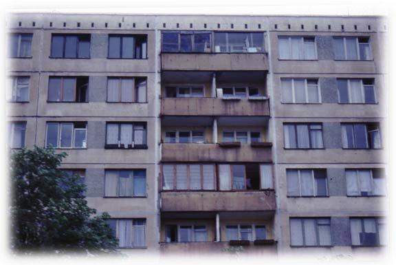 Un immeuble d'habitation typique en Union soviétique